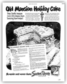 Old Mansion Holiday Cake