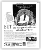 Sunshine Cake 1933