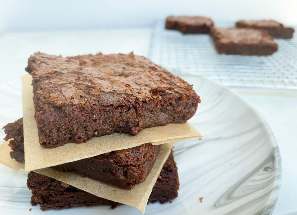 Fudge Brownies (A quick & easy brownie recipe, electric mixer not needed.)