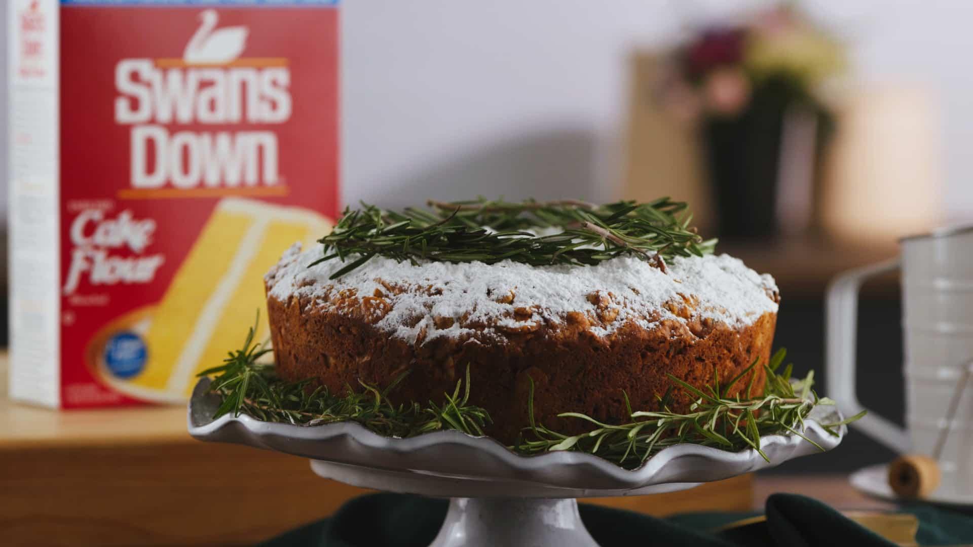 Fruit Cake On Cake Stand