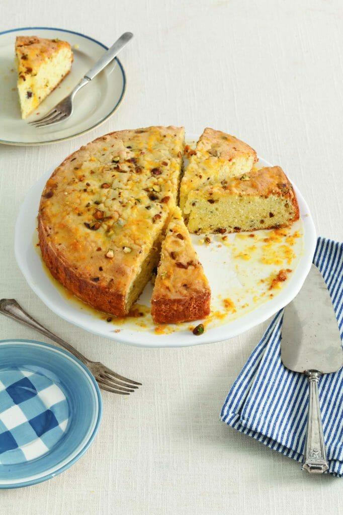 Orange Pistachio Olive Oil Cake