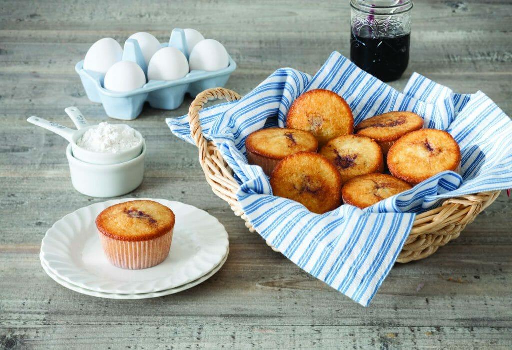 Blueberry Jam Muffins