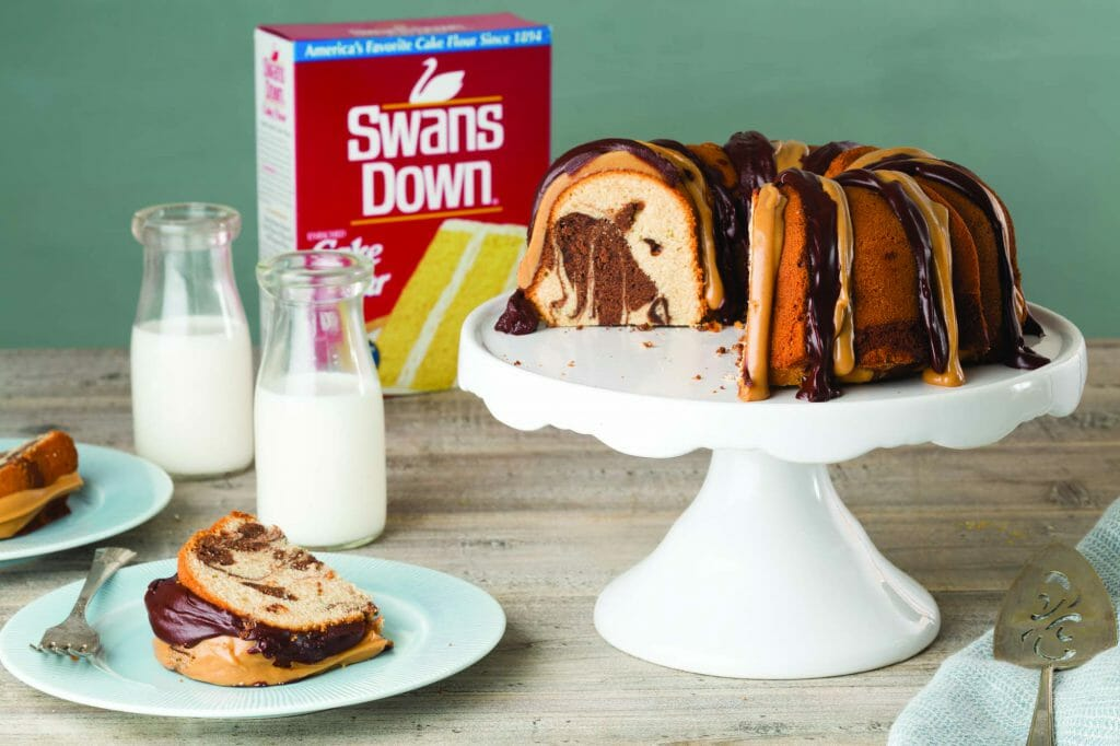 Peanut Butter Chocolate Marble Pound Cake