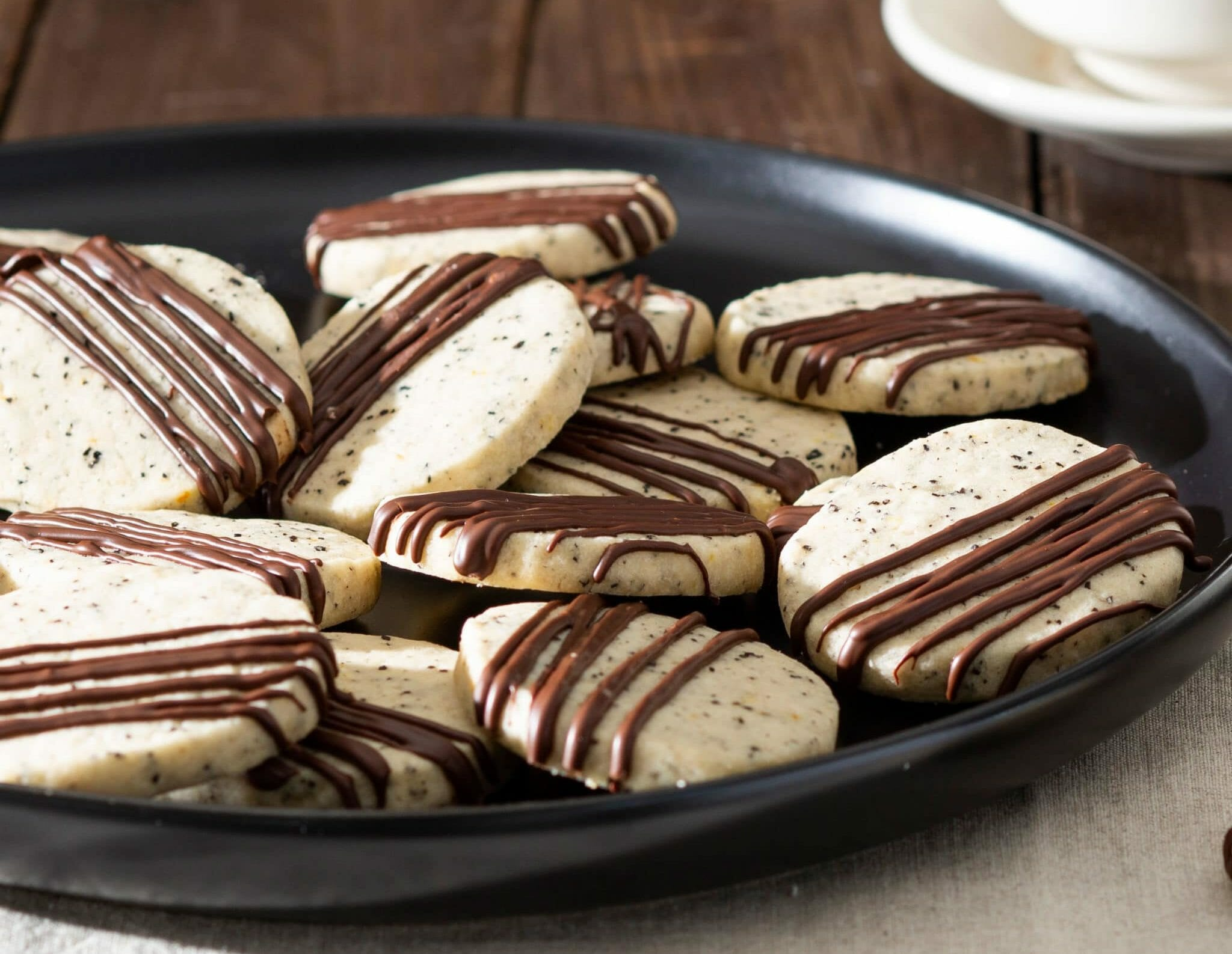 Chocolate-Drizzled Coffee Shortbread Recipe - Swans Down Cake Flour