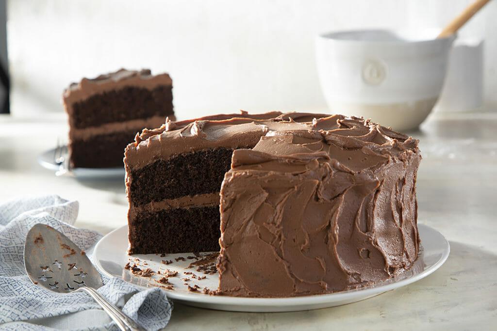 Chocolate Coffee Mayonnaise Cake