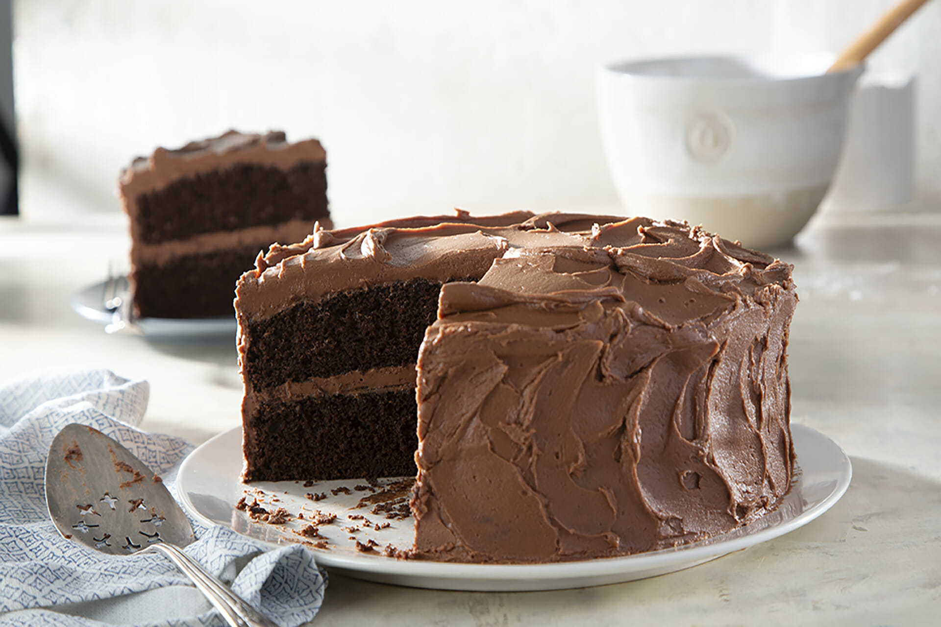 Chocolate Cake With Plated Slice