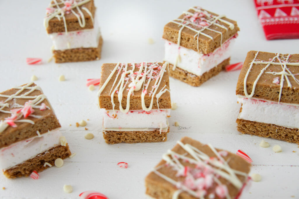 Gingerbread and White Chocolate S'mores