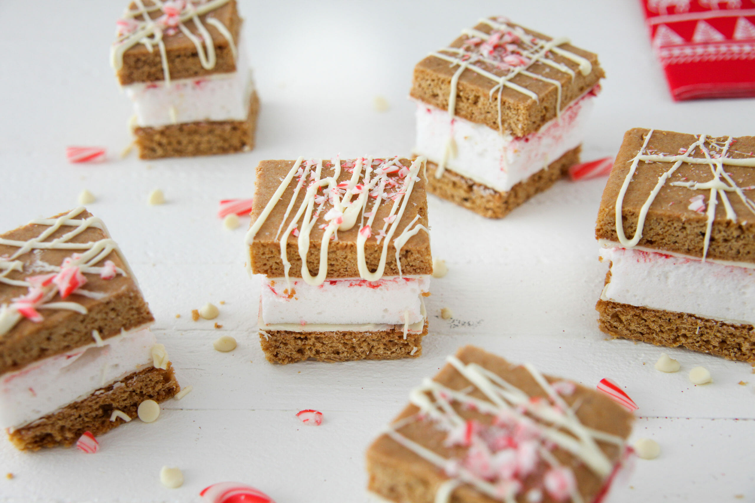 Peppermint Gingerbread S'mores Made With Cake Flour