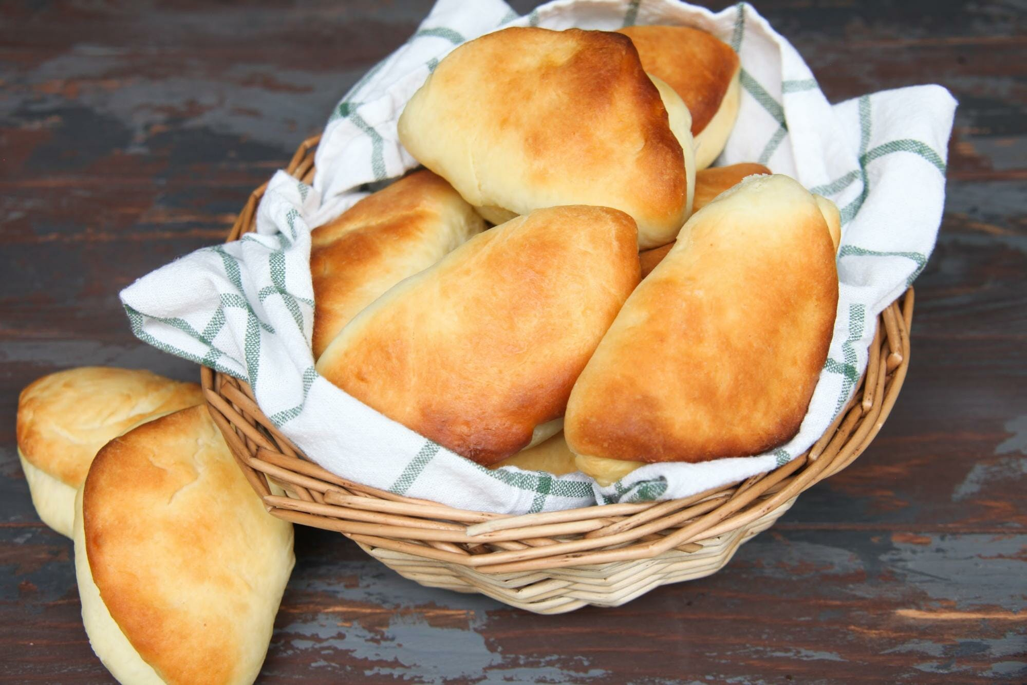 Basket Of Rolls Made With Cake Flour