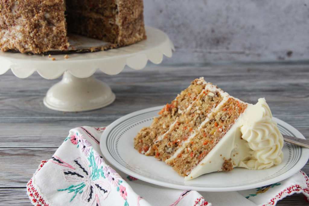 Carrot Cake With Plated Slice