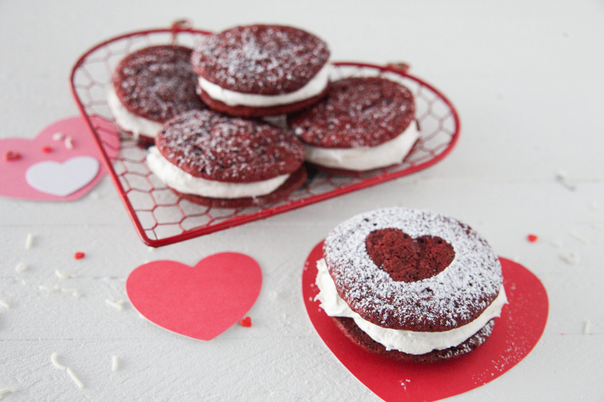 Red Velvet Whoopie Pies Made With Cake Flour