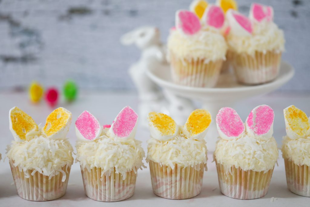 Cupcakes With Marshmallow Bunny Ears