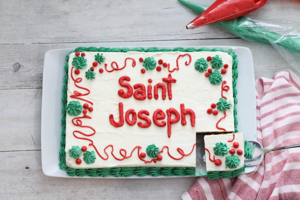 St. Joseph's Day Sheet Cake