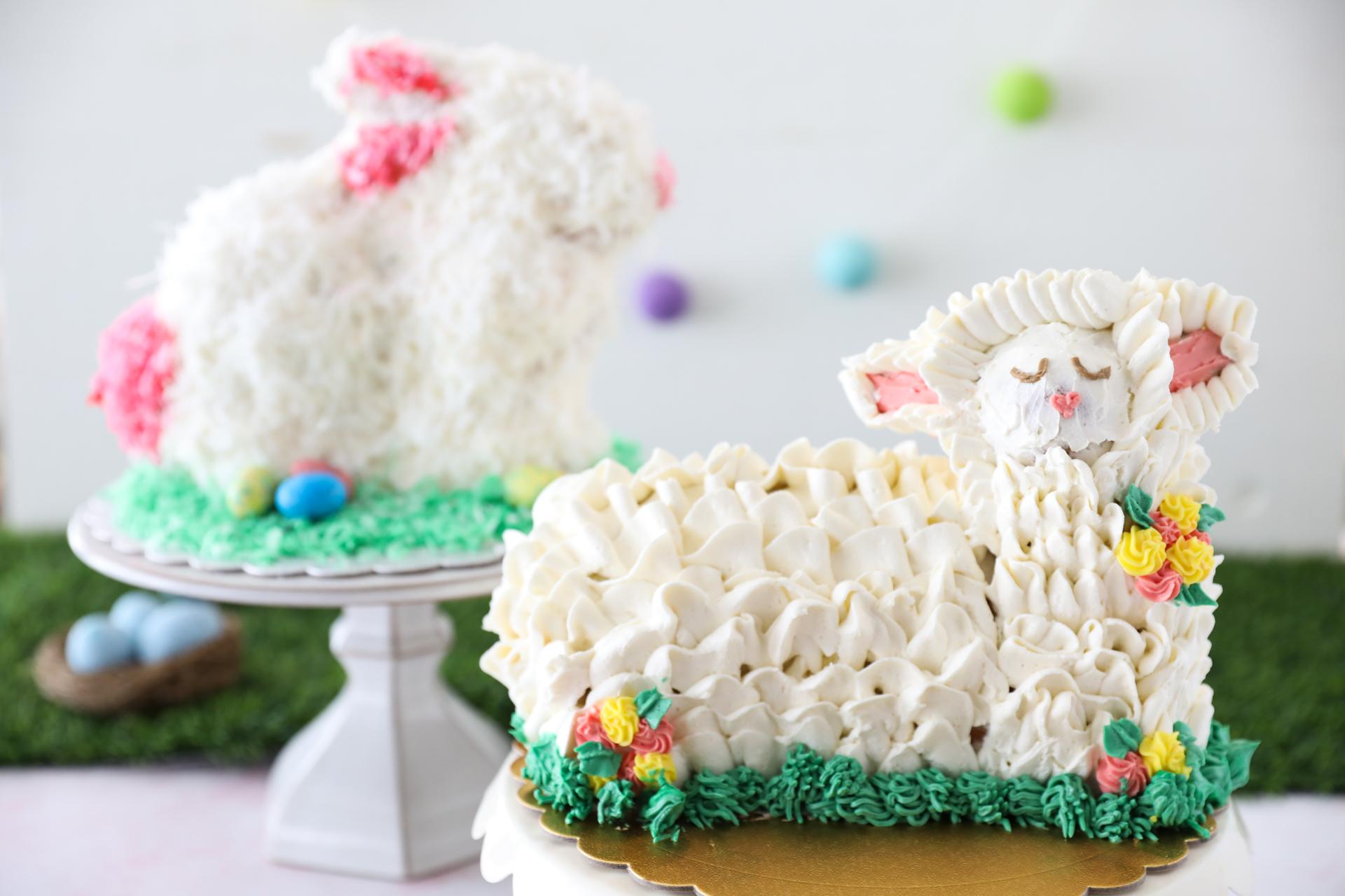Lamb And Rabbit-Shaped Cakes