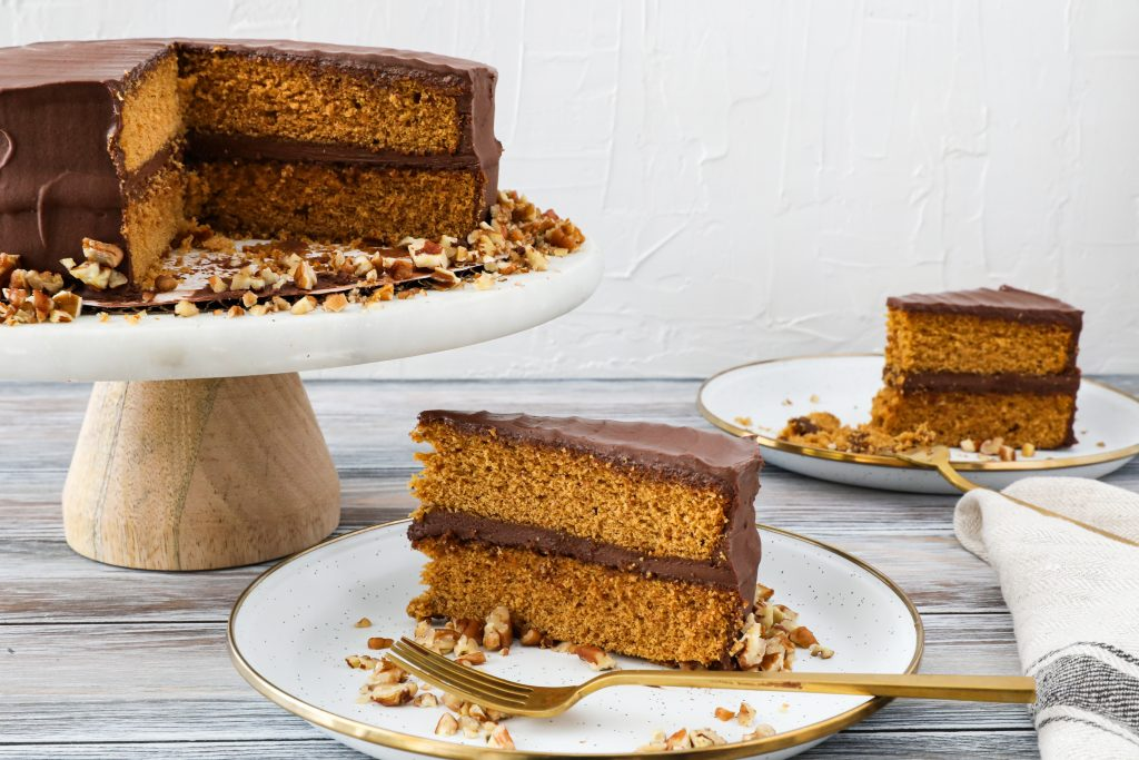 Classic Spice Cake with Mocha Frosting