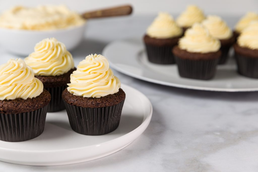 Chocolate Cupcakes with German Buttercream